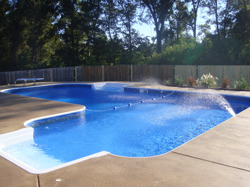 l shaped vinyl liner pool